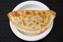 Leek pancake, Qing Ling, Bayard St, Manhattan