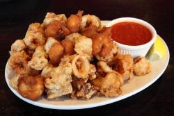 Fried calamari and shrimp, Leo's Casa Calamari, Bay Ridge, Brooklyn
