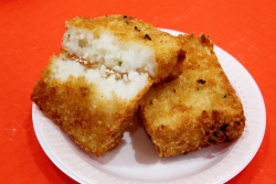 Seafood rice cakes, Diverse Dim Sum, New York Food Court, Flushing, Queens
