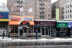 Dunkin' Donuts, the future Himalaya Restaurant, and Lhasa Liang Fen, Elmhurst, Queens