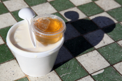 Hot taho (aka soy bean custard), Fong Inn Too, Mott St, Manhattan