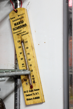 Refrigerator thermometer, The Corner Deli, Maspeth, Queens
