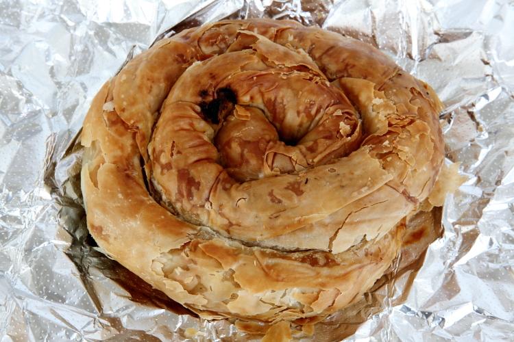Spinach swirl, F&S Pies, Whitestone, Queens