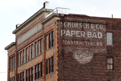 Schorsch & co, paper bag manufacturers, surviving signage Mott Haven, Bronx