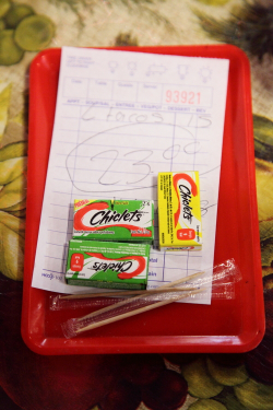 Check, Chiclets, and toothpicks, Las Conchitas Bakery, Sunset Park, Brooklyn