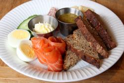 Gravad laks plate, Bornholm, Boerum Hill, Brooklyn