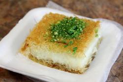 Kanafa with cream at Al-Sham, Astoria, Queens