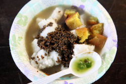 Lontong kupang  Indonesian bazaar at St James Episcopal Church  Elmhurst  Queens