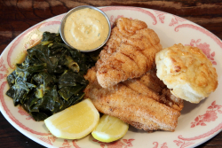 Fried catfish platter  Bobwhite Lunch & Supper Counter  Ave C  Manhattan