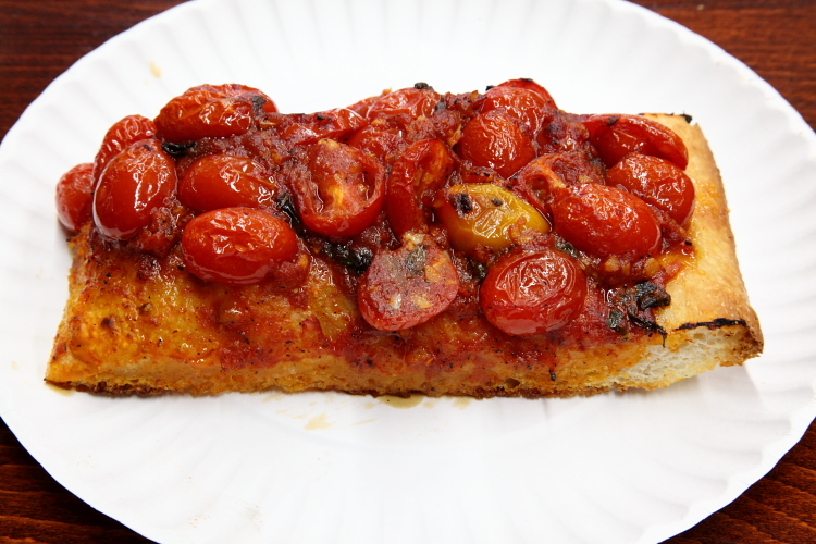 Sicilian-style marinara-and-tomato slice  Famous Ben's Pizza of Soho  Spring St  Manhattan