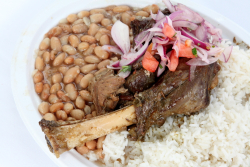 Lamb and goat platter  La Casa de Rosita  Carnaval Ayacuchano  Paterson  New Jersey