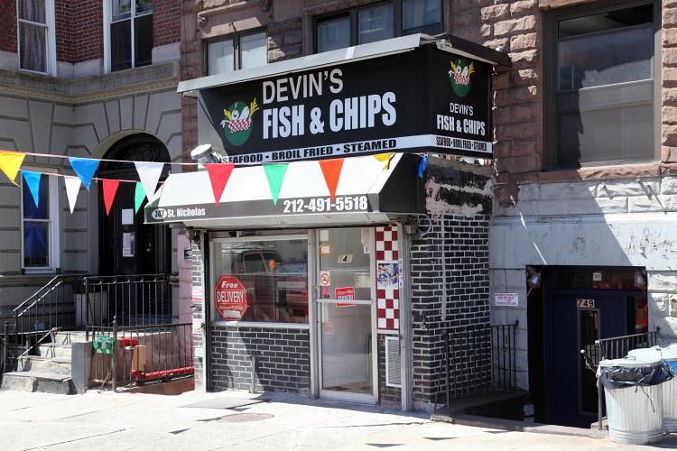 Devin's Fish & Chips  St Nicholas Ave  Manhattan