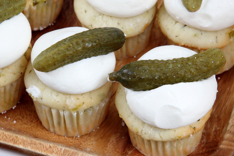 Dill pickle cupcakes  Sweet Buttons Desserts  Lower East Side Pickle Day  Orchard St  Manhattan