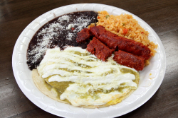 Huevos rancheros with chorizo  Panchos  Amsterdam Ave  Manhattan
