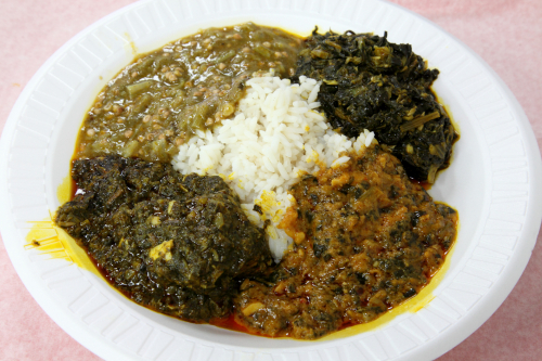 West African sauces with rice  Hadja Marley  Bedford-Stuyvesant  Brooklyn