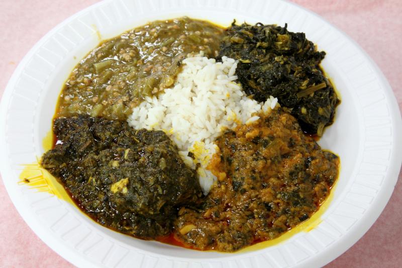 West African sauces with rice  Hadja Marley  Bedford-Stuyvesant  Brooklyn