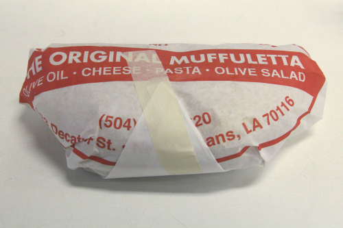 Muffuletta (half  wrapped)  Central Grocery  New Orleans
