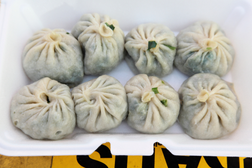 Steamed chive momo  Lhasa Fast Food  Jackson Heights  Queens