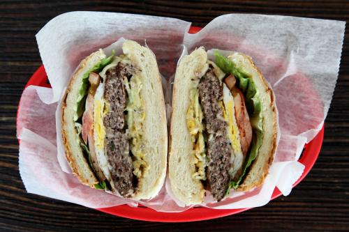 X egg burger  New York Pao de Queijo  Astoria  Queens