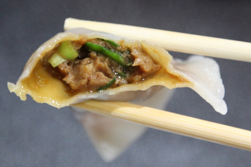 Boiled dumpling (biteaway view)  88 Lan Zhou Handmade Noodle & Dumpling  Bowery  Manhattan