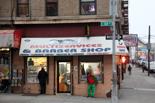 Mariel Barbershop (and Dominican snack window)  Fordham Heights  Bronx