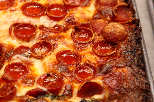 Pizza with pepperoni  Mama's Too  Broadway  Manhattan