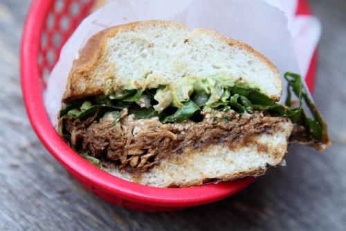 Pollo con mole torta  Miscelanea  East 4th St  Manhattan