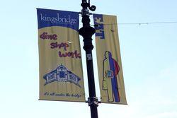 %22Eat,%22 Kingsbridge Shopping District banner, Kingsbridge, Bronx