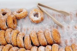 Butternut doughnuts, Rockville Market Farm, Smorgasburg, Williamsburg, Brooklyn