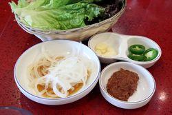 Accompaniments, Mapo Korean BBQ, Murray Hill, Queens