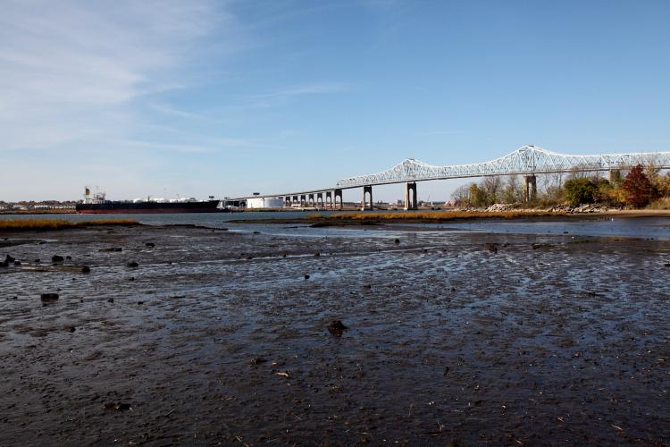 Low tide near the Outerbridge Crossing, Charleston, Staten Island