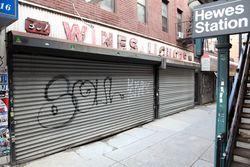 The former Junibois Liquor Store, Williamsburg, Brooklyn