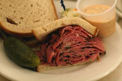 Pastrami sandwich, Cafe Edison, West 47th Street, Manhattan