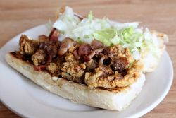 %22Pearl River%22 po-boy, Avery's on Tulane, New Orleans