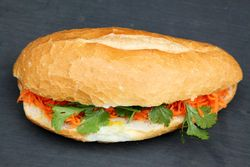 Chinese sausage and egg banh mi, Pho Cam Ly, New Orleans