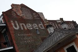 Uneeda Biscuit, surviving signage, New Orleans