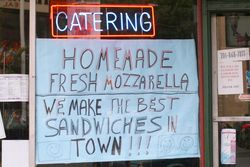 %22Homemade fresh mozzarella, we make the best sandwiches in town%22