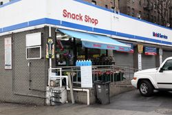 Mobil Snack Shop and Sqweez Juice Bar, Broadway, Manhattan