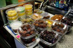 Desserts on the counter of Phnom Penh-Nha Trang Market, Fordham, Bronx