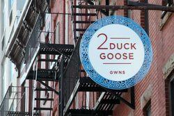 2 Duck Goose sign with swan-neck %222,%22 Gowanus, Brooklyn