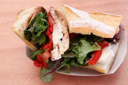 Caprese sandwich, Big Mozz, Smorgasburg, Williamsburg, Brooklyn