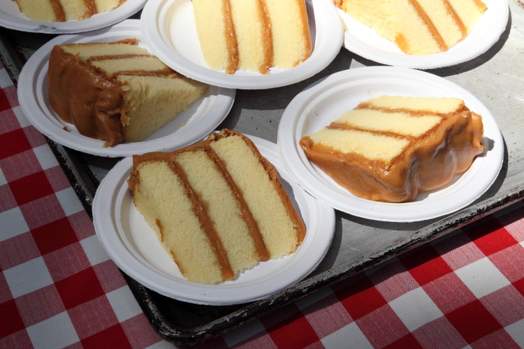 Caramel cake, Sugaree's Bakery, Big Apple Barbecue Block Party, Madison Square, Manhattan