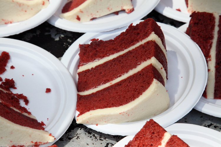 Red velvet cake, Sugaree's Bakery, Big Apple Barbecue Block Party, Madison Square, Manhattan