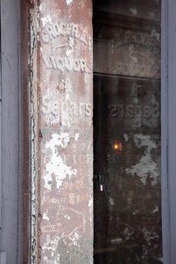 Groceries liquor & segars, surviving signage, Tiny's, West Broadway, Manhattan
