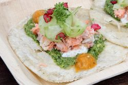 Smoked-fish taco, Helsinki Street Eats, North Food Festival, Charles Street, Manhattan