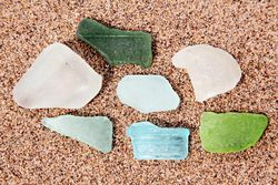 Sea glass, Conference House Park, Tottenville, Staten Island