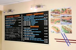 Wall menu, AC Sandwiches (Banh Mi AC), Atlantic City, New Jersey