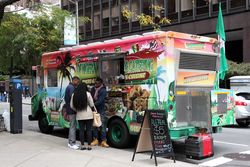 DF Nigerian Gourmet Food Truck, near Second Ave, Manhattan