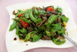 Sauteed lamb belly (tripe) with hot peppers, Chang Le Xin Fan Zhuang, Eldridge St, Manhattan