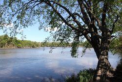 Hackensack River, view behind White Manna Hamburgers, Hackensack, New Jersey